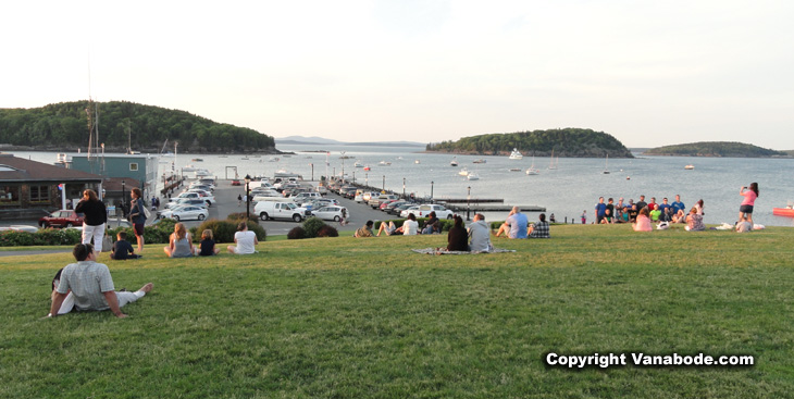 picture in agamont park waiting for the sun to go down in bar harbor maine