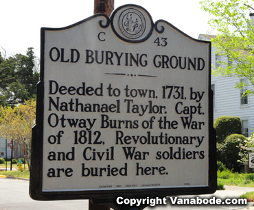 beaufort old burying ground sign 1731