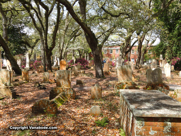 Beaufort Old Burying Ground main tombs and vaulted  plots