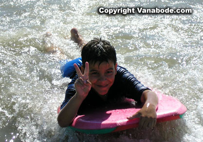 picture of ben boogie boarding in cape canaveral florida