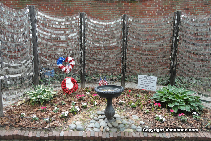 picture of dog tag memorial boston
