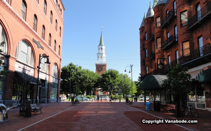picture of church street marketplace in burlington vermont