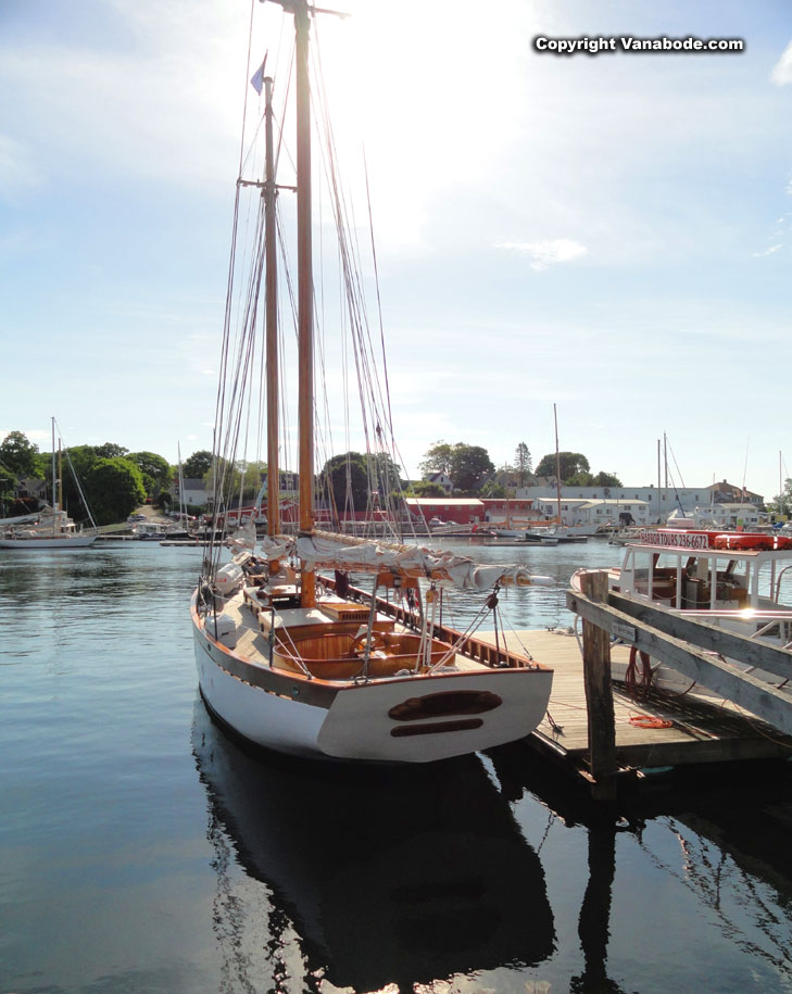 camden maine sailboat at dock