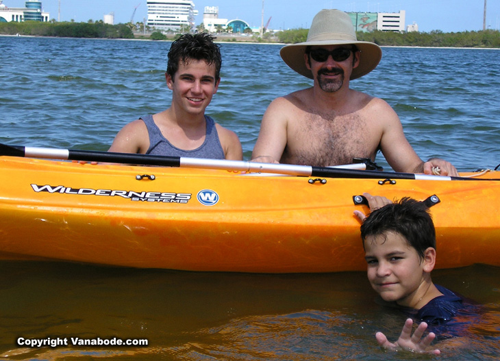 picture of kayak in indian river near port canaveral florida