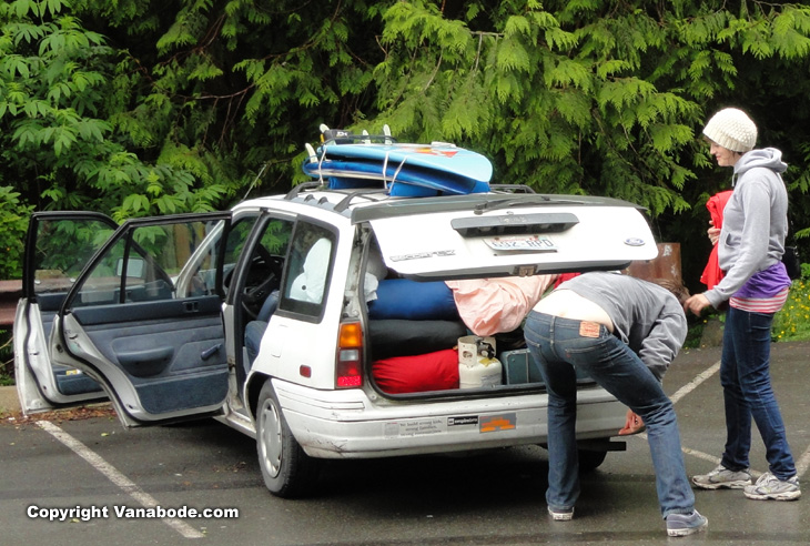 funny car camping picture