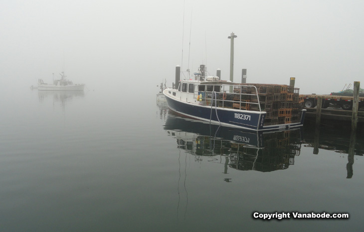 fog rolling in at chatham pier picture