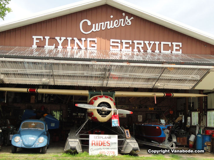 curriers flying service maine with barn