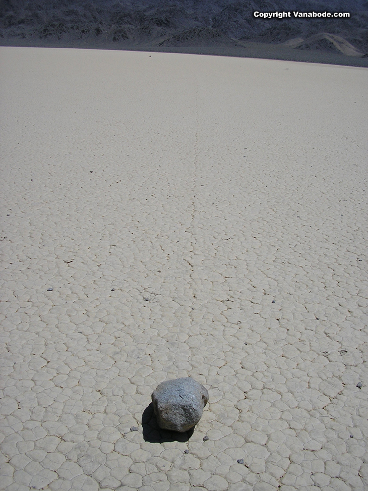 picture of rock slide on race track in death valley