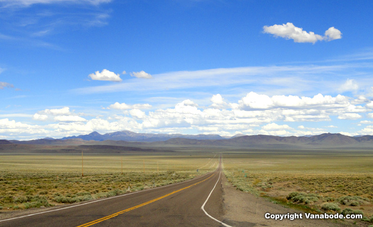 desert highway picture shows the solitude and serious outdoors that you have all to yourself when van camping here