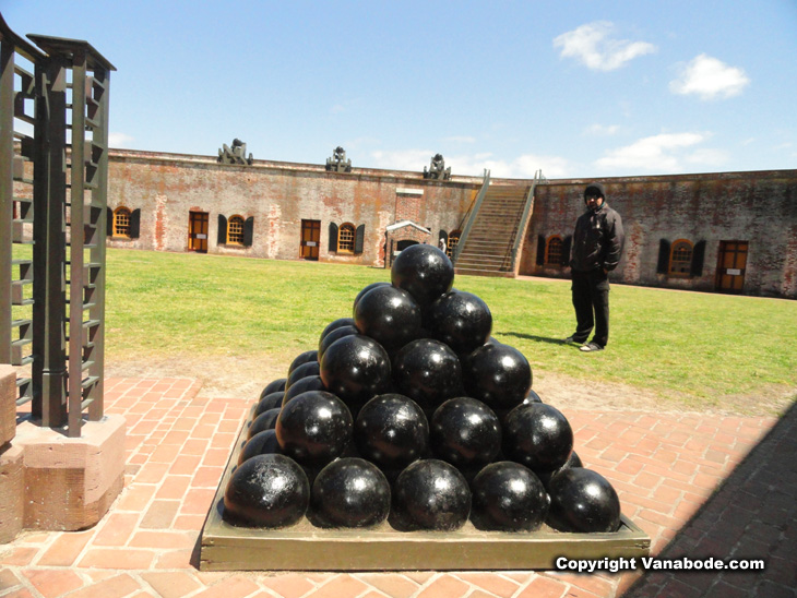 fort macon cannon balls