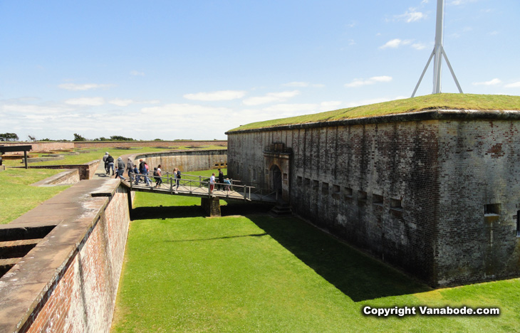fort macon atlantic beach outside wall view