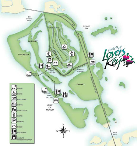 lovers key state park map picture
