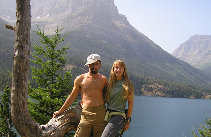 picture of us at st mary's lake glacier park