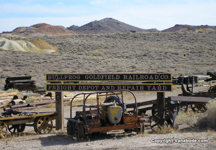 Picture of goldfield train yard