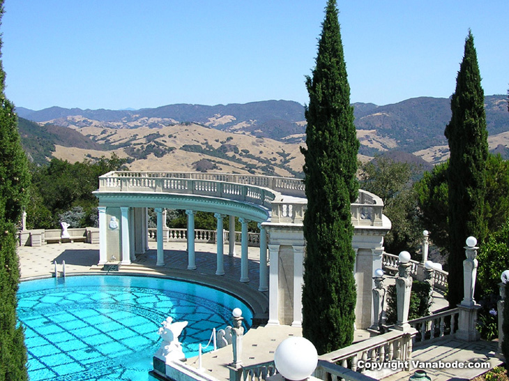 hearst castle in california neptune pool picture from our vanabode trip