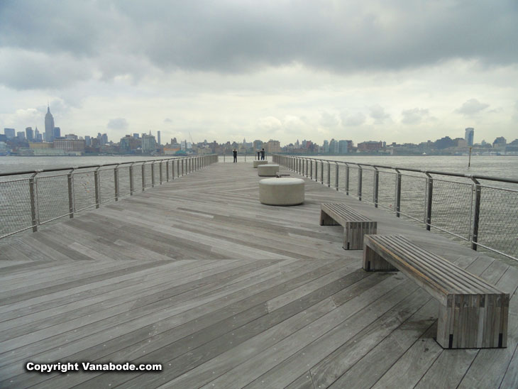 dock at park in hoboken new jersey