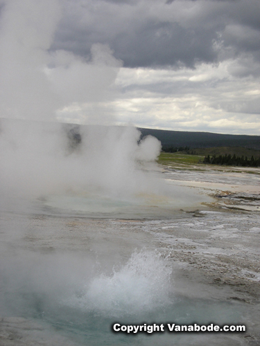hot spring at yellowstone picture