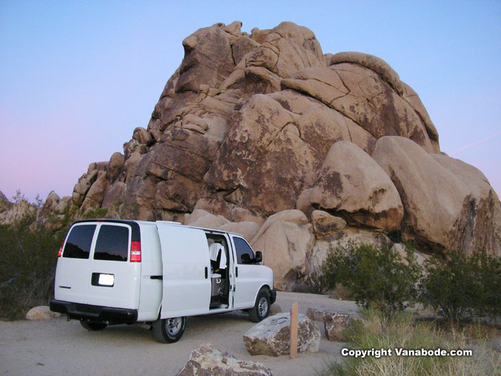 picture of campsite at Joshua Tree National Park