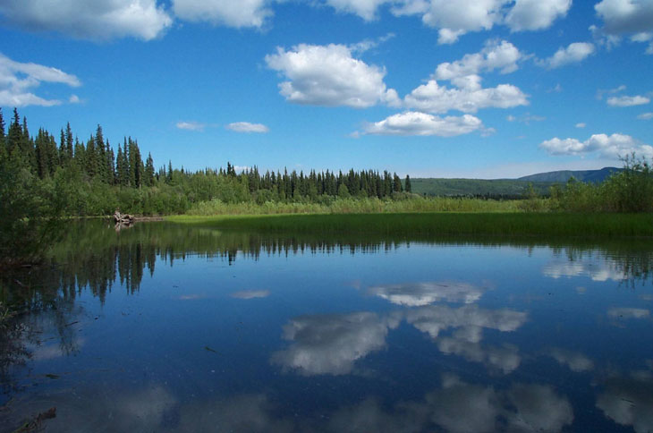 picture of Kandik River in Yukon Charley Rivers National Preserve Alaska
