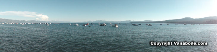 picture of boats anchored in lake tahoe nevada