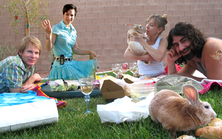 picture of funny bunny picnic