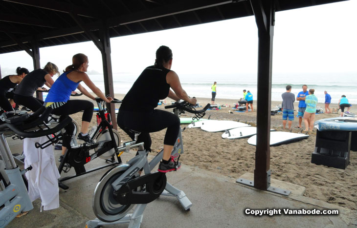 exercise on the beach in marblehead
