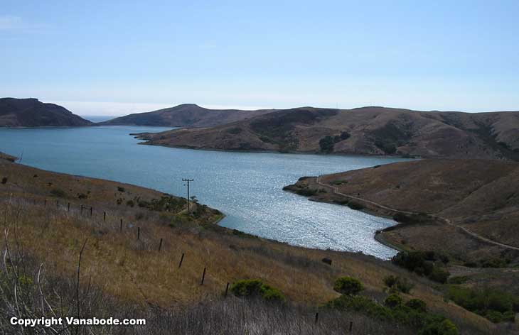 picture shows lake that leads to nearby morro bay  california on the ocean