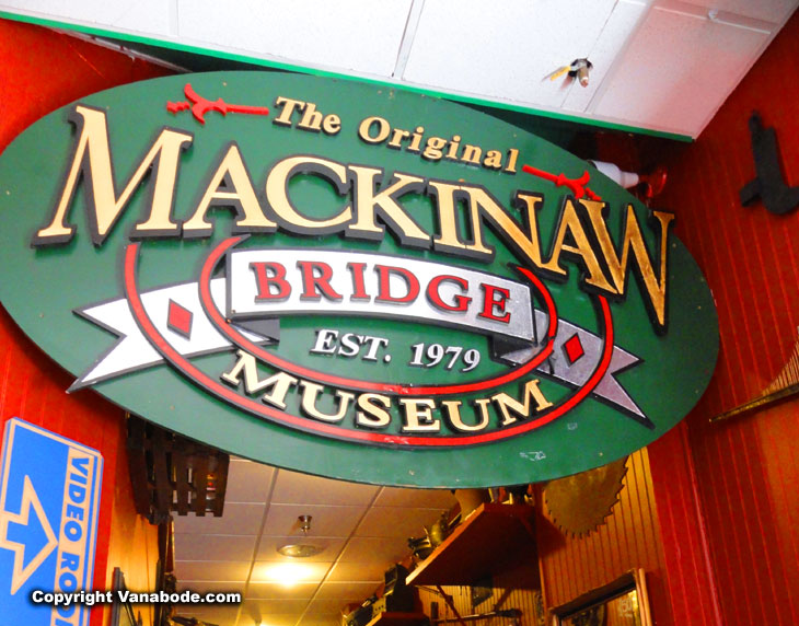 original mackinaw bridge museum signage since 1979