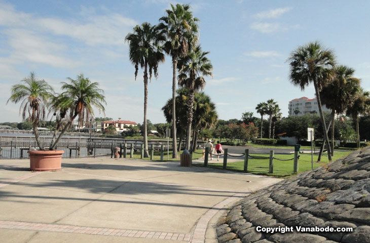 river walk along halifax river in ormond beach picture