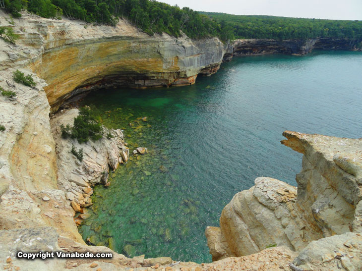 pictured rocks national lakeshore park lake superior hiking conditions