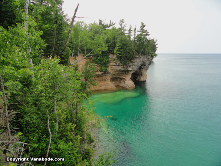 Pictured Rocks National Lakeshore in Michigan on Vanabode trip