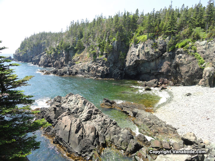 rocky beaches in maine at quoddy