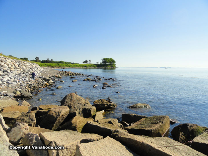 breakwater beach in rockland maine