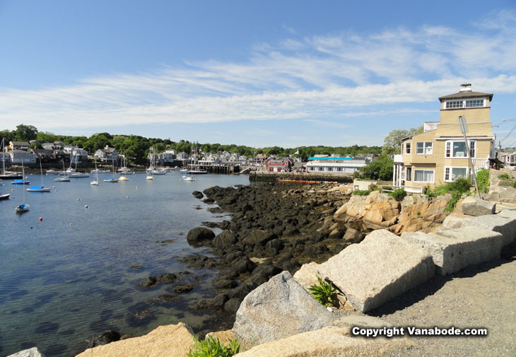 bay and marina in rockport