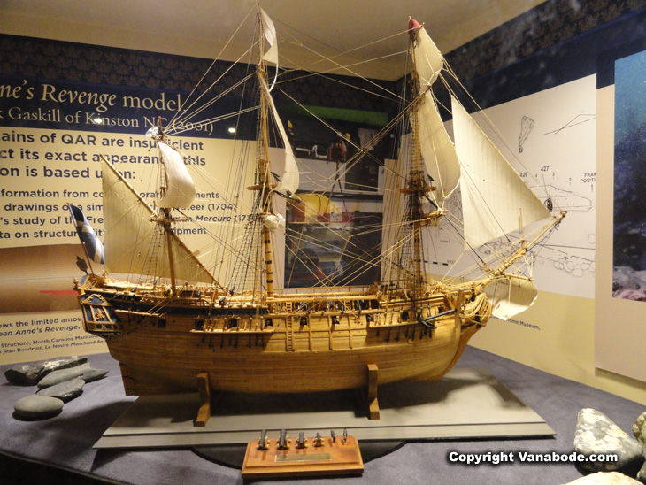 intricate ship models in museum