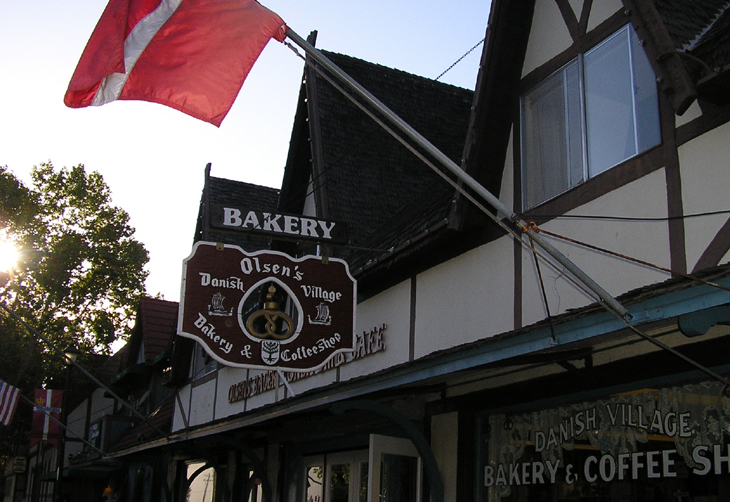 Picture of Danish bakery in Solvang California