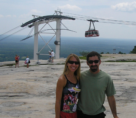 Picture at top of Stone Mountain with skyride