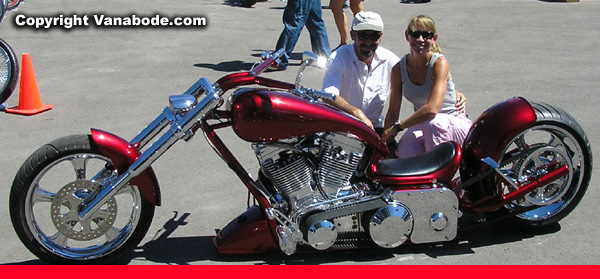 sturgis red low rider bike picture