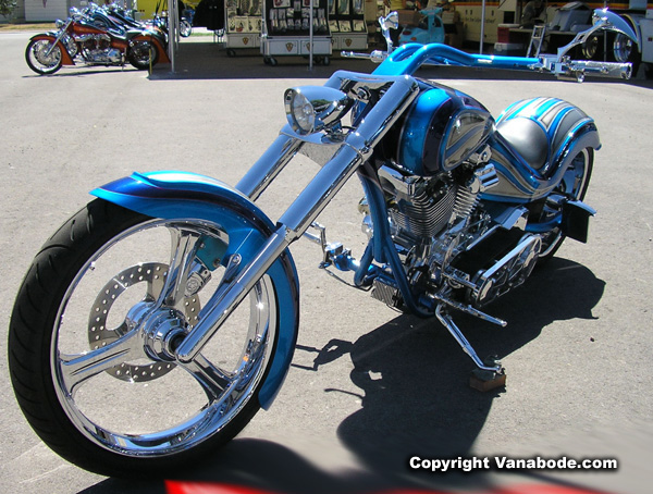 sturgis turquoise bike picture