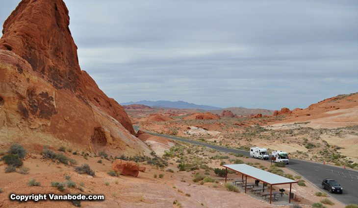 valley of fire picture a few miles from las vegas