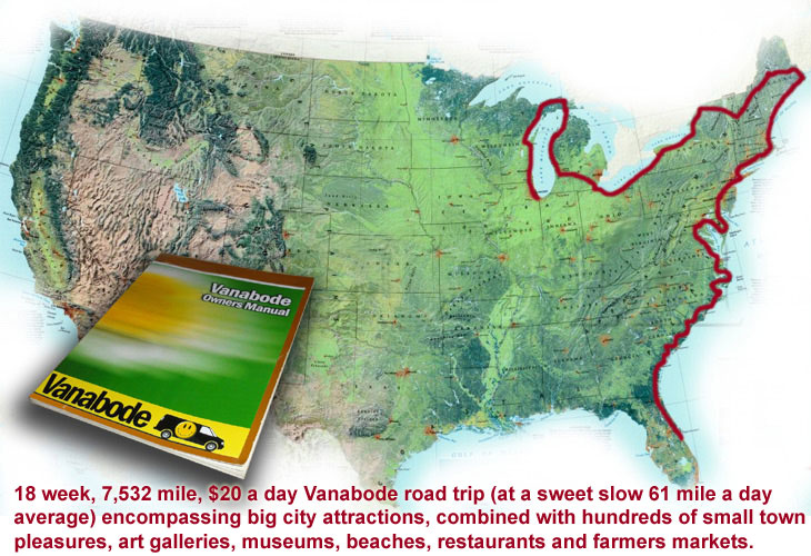 east coast road trip map