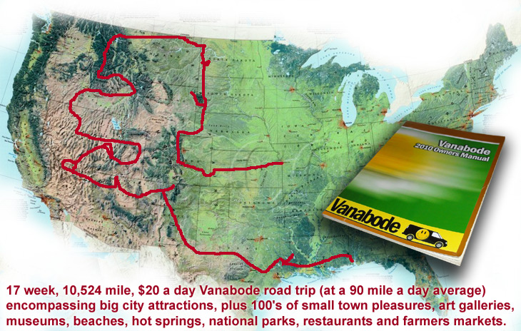 western states road trip vanabode map