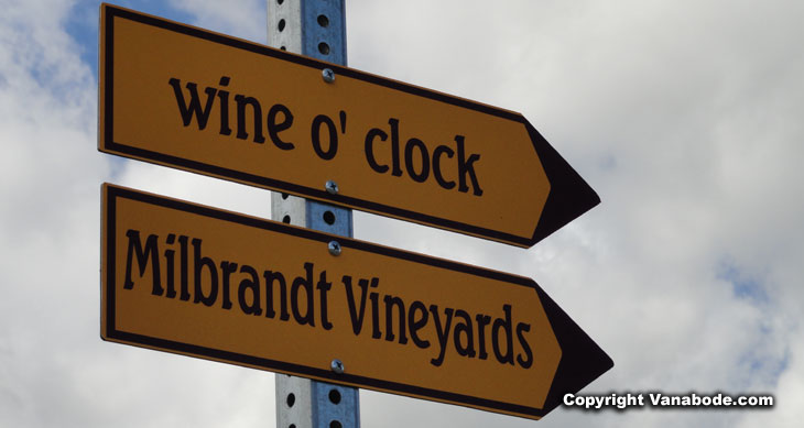 street sign in washington's vintners village picture