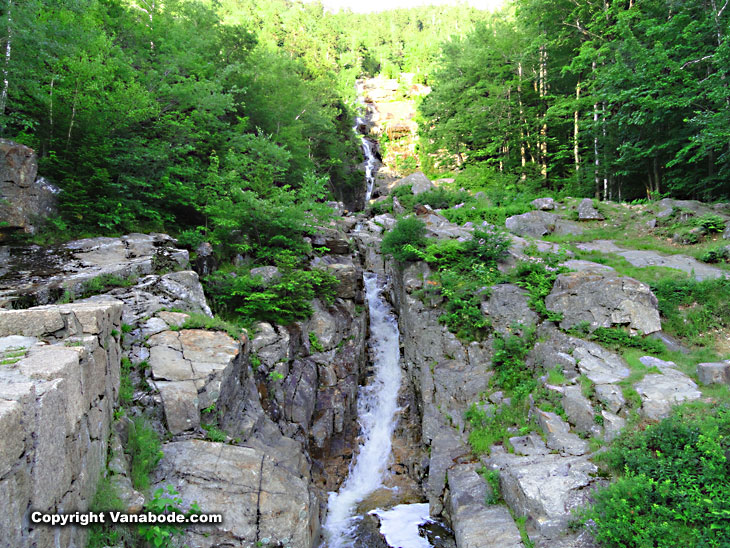 white mountains water falls in new hampshire are huge