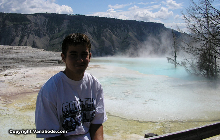 picture taken in mammoth springs yellowstone