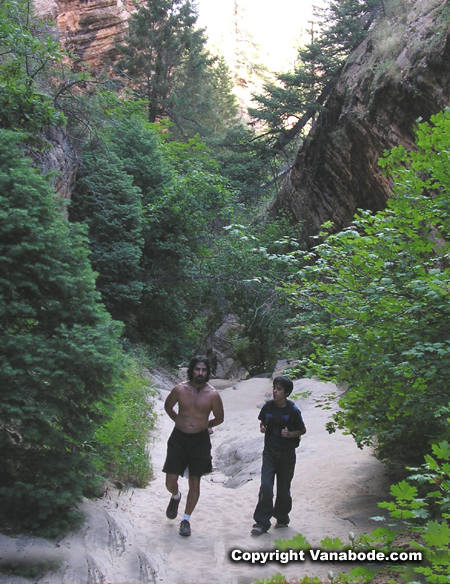 hiking hidden canyon in zion picture