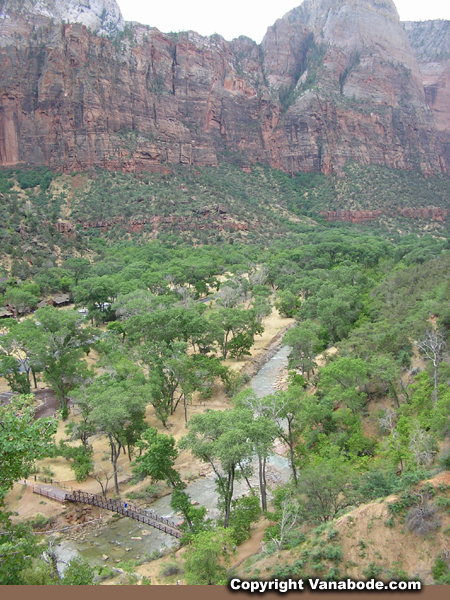 zion virgin river from emerald pools trail picture